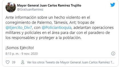 Cuenta Oficial del Comandante Mayor General Juan Carlos Ramírez Trujillo .@GralJuanRamirez