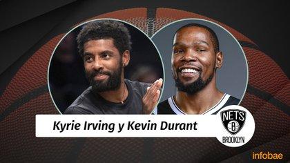 Kevin Durant actualmente se encuentra en Brooklyn Nets junto a Kyrie Irving