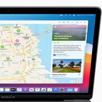 La aplicación Maps fue rediseñado: se incluyen recomendaciones de sitios para visitar y vista 360 grados.