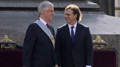 Tabaré Vázquez y Luis Lacalle Pou