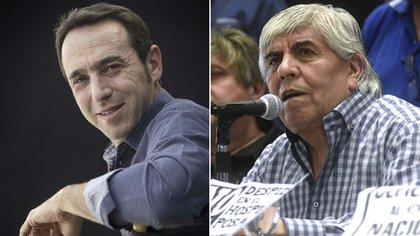 Marcos Galperin y Hugo Moyano