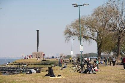 También se permitieron las salidas recreativas en espacios públicos. (Franco Fafasuli)