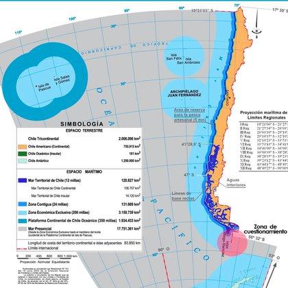 La pretensión de Chile se superpone en el Mar Austral con la ya anunciada como propia por Argentina