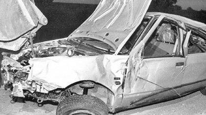 Así quedó el auto en el que se trasladaba Carlos Monzón tras el accidente (Gentileza El Litoral)