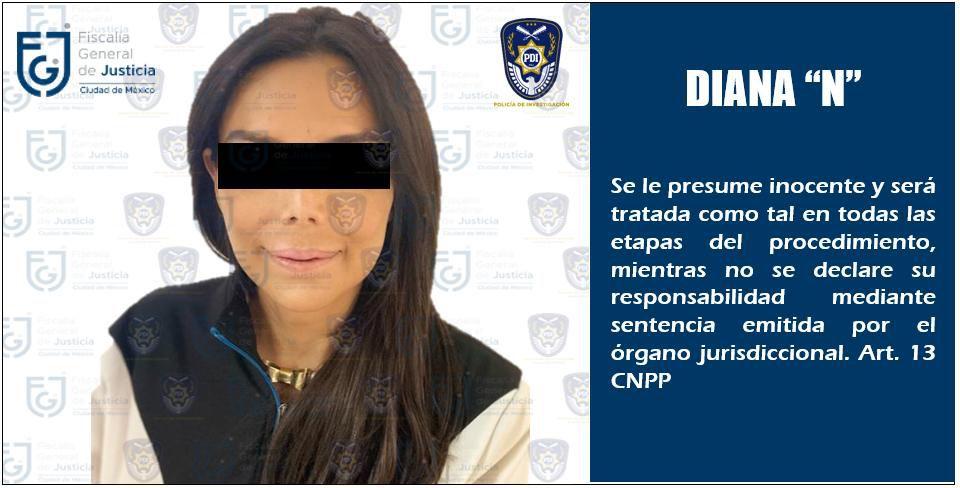 Diana Sánchez Barrios fue detenida ayer por presuntos delitos de extorsión y robo