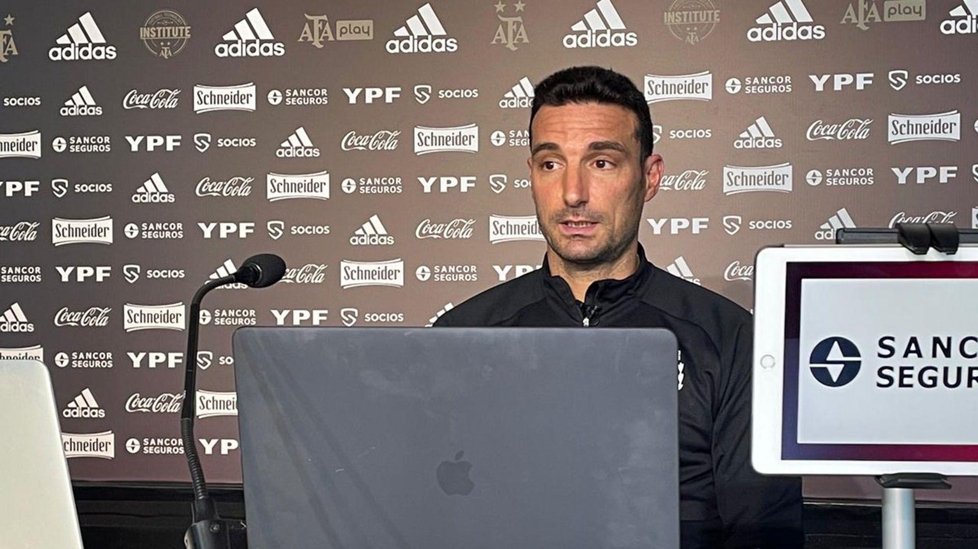 Lionel Scaloni - conferencia de prensa AFA