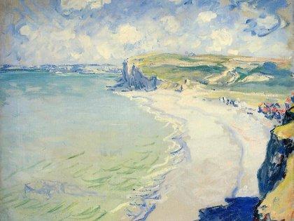 """""""The Beach At Pourville"""" (1882) de Claude Monet"""