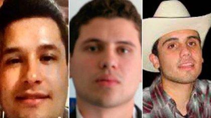"""Jesús Alfredo Guzmán, Iván Archivaldo y Ovidio Guzmán: tres de los hijos de """"El Chapo"""" (Foto: Archivo"""