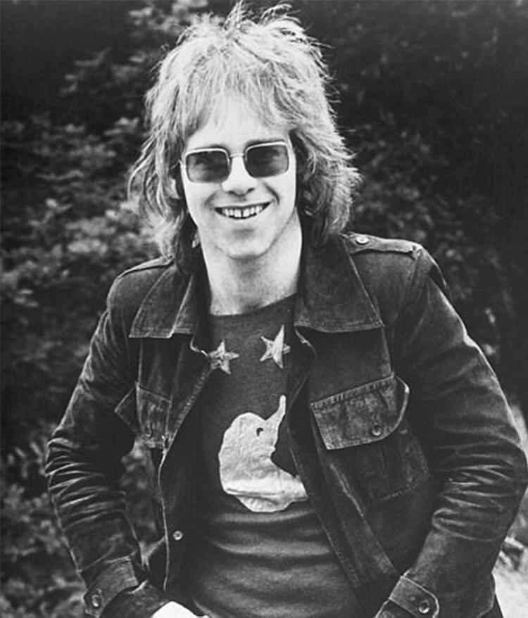 Elton John en los años 70.
