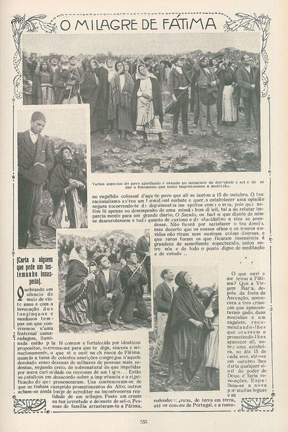 """Los diarios portugueses de la época cubrieron profusamente el """"milagro de Fátima"""""""