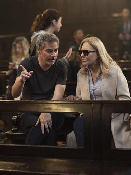 """Sebastián Schindel, director, y Cecilia Roth, protagonista, de """"Crímenes de familia"""""""