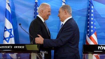 Joe Biden y Benjamin Netanyahu (Reuters/archivo)