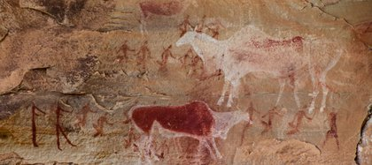 Pinturas rupestres de hace unos 10.000 años también registran la domesticación animal