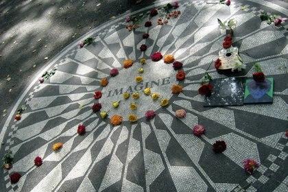 El memorial a John Lennon en la zona de Strawberry Fields, en Central Park (Nueva York), es una de las zonas más concurridas de la ciudad (Flickr)