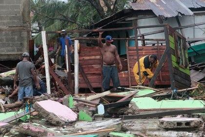 El huracán Iota causó destrozos a su paso (REUTERS/Oswaldo Rivas)