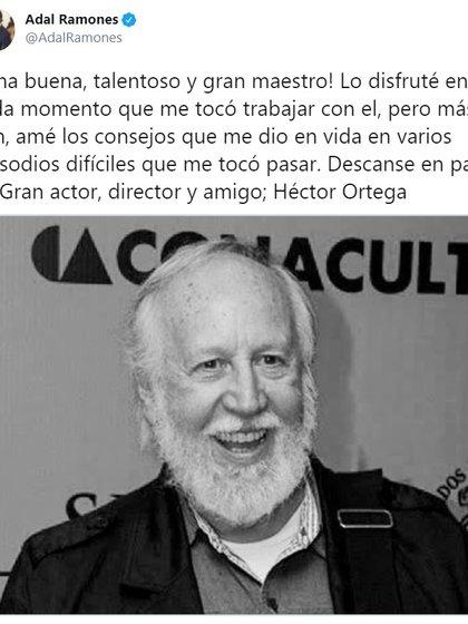 Adal Ramones fue amigo personal del fallecido actor (Foto: Twitter @Adalramones)