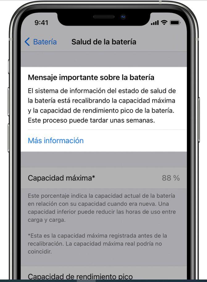 iOS 14.5 incluye una opción para recalibrar la batería de los iPhone 11