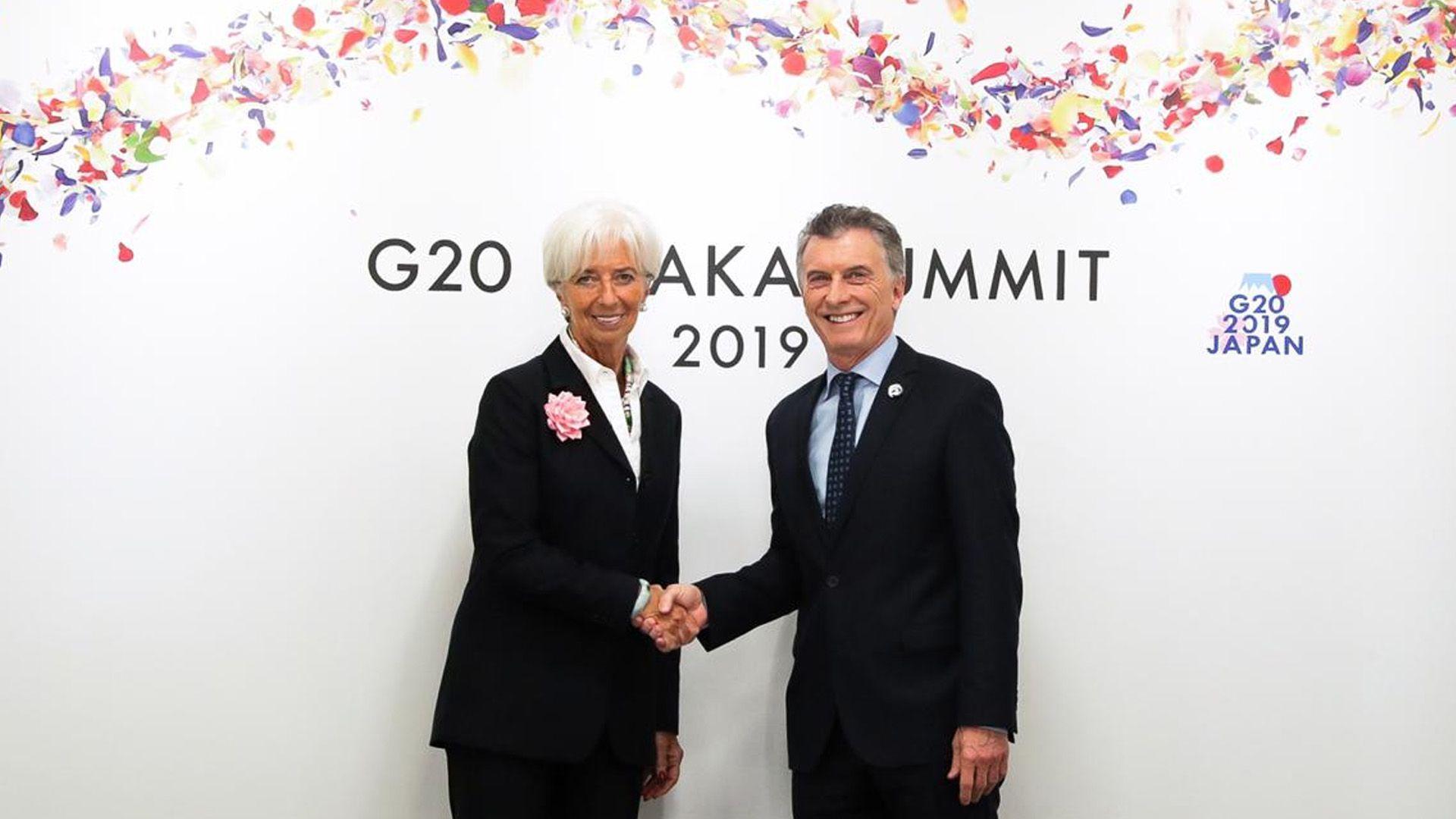 Mauricio Macri y Christine Lagarde en Japón