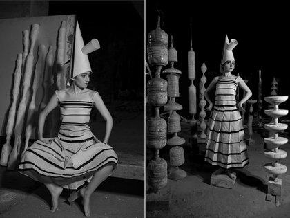 """Dos fotografías de la serie """"Terpsícore entreguerras"""""""