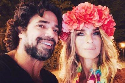 Luciano Castro y Sabrina Rojas, en pleno festejo (Fotos: Instagram)