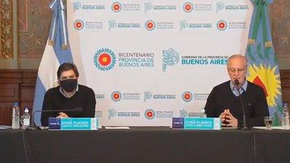 Daniel Gollán y Nicolás Kreplak, ministro y vice de Salud en Provincia de Buenos Aires, respectivamente