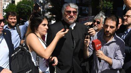 La llegada del ex presidente de Paraguay, Fernando Lugo (Maximiliano Luna)