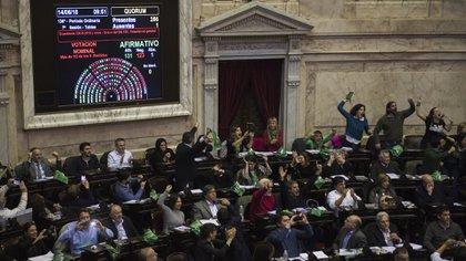 En 2018, el aborto obtuvo media sanción en Diputados (Adrián Escandar)