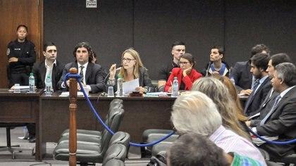 Una de las sesiones del juicio (foto Télam)