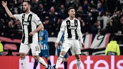 El festejo de Cristiano Ronaldo tras el 1-0 (Foto: Marco BERTORELLO / AFP)