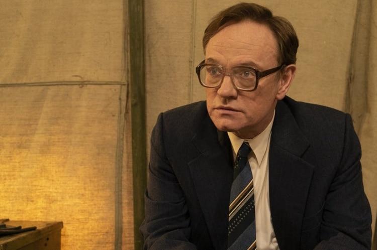 Jared Harris como Valeri Legásov en la serie Chernobyl (HBO)
