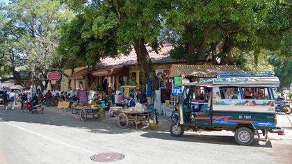 Una calle céntrica de Ventiane, la capital de Laos (Shutterstock)