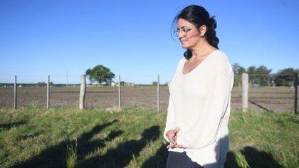 Dolores Etchevehere en el campo familiar ubicado en Entre Ríos