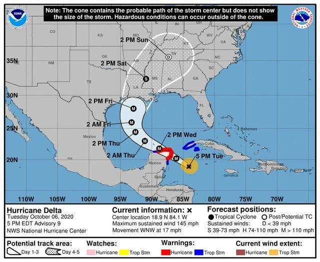 delta huracan quintana roo