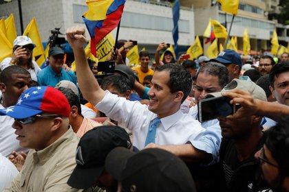 Juan Guaidó en Caracas, Venezuela, en marzo.