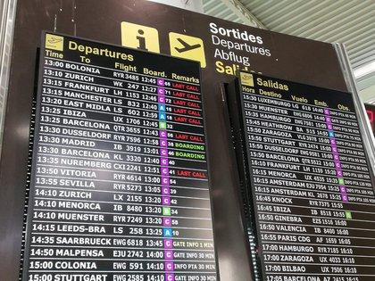 17/07/2020 Pantallas con informaci�n sobre vuelos en el aeropuerto de Palma, este julio. POLITICA ESPA�A EUROPA ISLAS BALEARES AUTONOM�AS