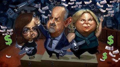 Elisa Carrió, Alberto Roberti y Nilda Garré, el podio de los diputados que más pasajes cambiaron por dinero en efectivo durante 2017 (Rodrigb Acevedo Musto).