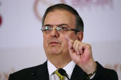 El secretario de Relaciones Exteriores, Marcelo Ebrard, fijó la postura del gobierno mexicano respecto a la frontera. (Foto: REUTERS/Edgard Garrido/Archivo)