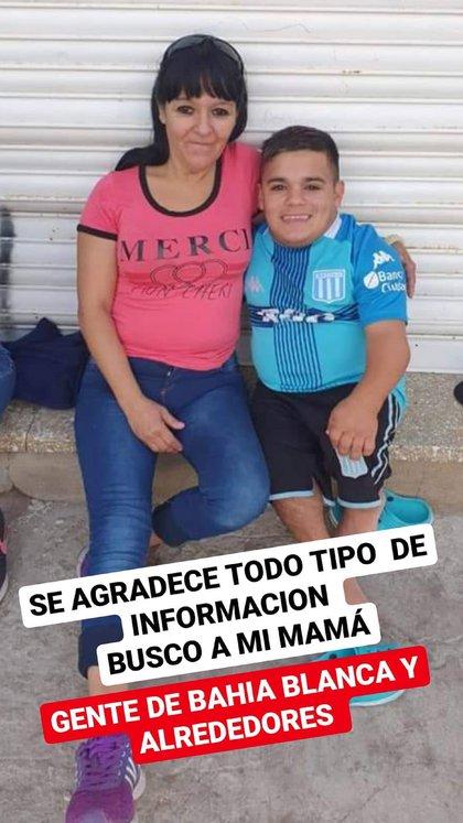 Brian Buley compartió una foto de su madre en las redes sociales y pidió difusión para su aparición