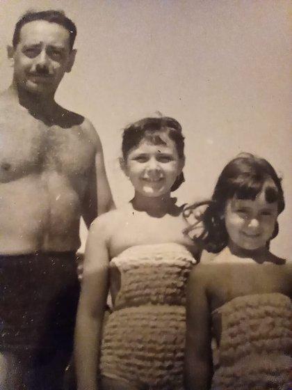 Zulma con su papá, Jacinto Alí Faiad, y su hermana