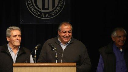Héctor Daer de la CGT se mostró preocupado por el avance de la pobreza (Matías baglietto)