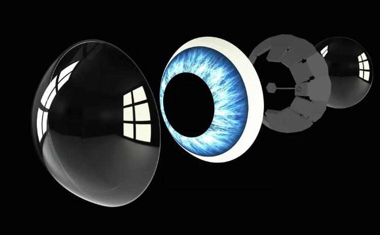 Además de ser de utilidad para personas con problemas de visión, las lentes podrían tener otros usos: como ofrecer la opción de recibir notificaciones del móvil, literalmente, frente a sus ojos (Mojo Vision).