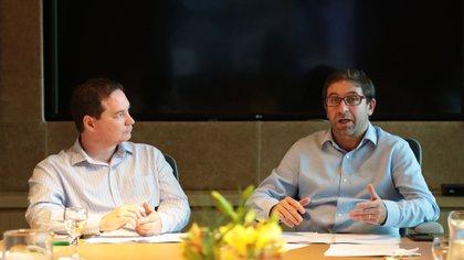 Fernando Straface y Francisco Resnicoff, representantes del gobierno porteño en el Urban 20