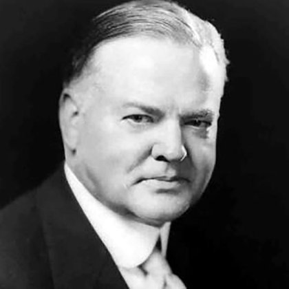 Herbert Hoover, presidente de los Estados Unidos (1939-1943) y fundador de la Hoover Institution Library and Archives (Stanford University)