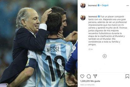 El mensaje de Messi por la muerte de Sabella