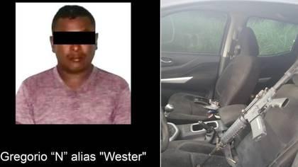 """Gregorio Rosas, alias """"Wester"""" fue capturado en la región central de Veracruz (Foto: Facebook/Secretaría de Seguridad Pública del Estado de Veracruz)"""