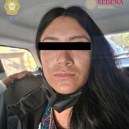 La femme du Michoacán a été arrêtée dans le quartier Roma Sur de la mairie de Cuauhtémoc (Crédit: SSC-CDMX)