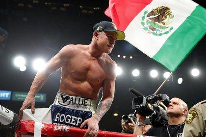 La última pelea de Canelo Álvarez fue contra Sergey Kovalev. El pugilista  acumula 10 meses sin subir al ring (Foto: Steve Marcus/Getty Images/AFP)