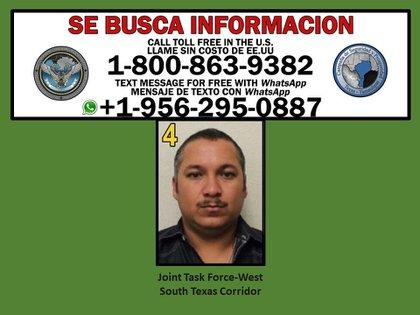 """La capture du criminel présumé et chef du cartel du Golfe, Evaristo Cruz, alias el """"Cow-boy"""" C'est devenu une priorité pour les gouvernements de Tamaulipas et les agences fédérales des États-Unis (Photo: Twitter / JTFWest)"""
