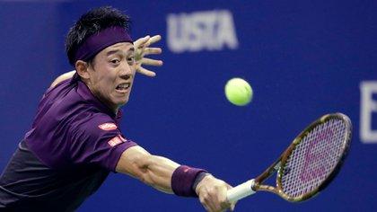 Nishikori cayó en tres sets tras dos horas y media de partido (AP)