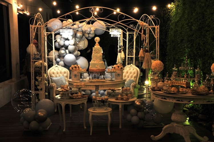 El baby shower de Vicky Xipolitakis tuvo una tierna decoración